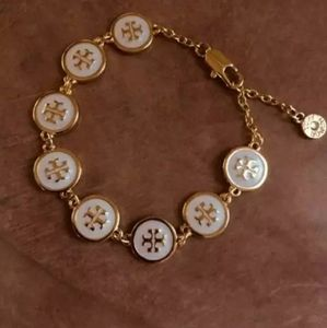 Tory Burch White and Gold